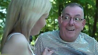 Horny Nymph Seduces Freak Oldman