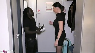 German business women Dacada cheat Husband by Black Callboy