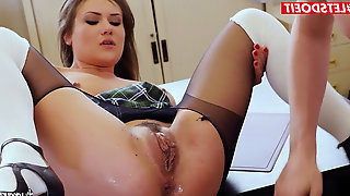 Wild SCHOOL GIRL TAKES AN EXAM WITH HARDCORE ass fucking penetrate
