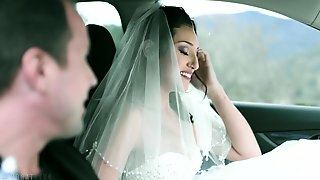 Sexy bride Bella Rolland is cheating on groom with his best friend