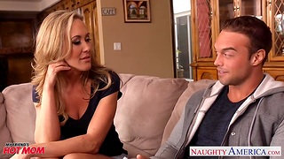 Hot blooded cougar Brandi Love is have a yen son's best collaborate