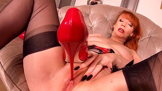 Hot busty MILF In flames XXX is really fucking horny