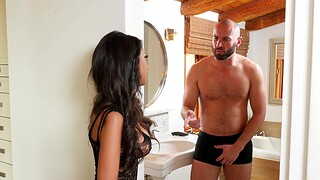 Provocative wife Troika St. Clair round stockings gets fucked good
