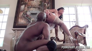 Ivory skinned milf Lisa Ann is fucked hard by hot blooded BBC Prince Yahshua