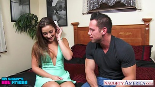 Womanizer bangs sexy sister's join up Dani Daniels in different poses