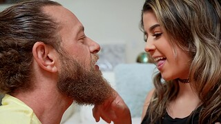 Closeup video be required of pretty Kylie Rocket giving a messy blowjob