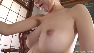 Kinky Asian girl Fujie Shiho makes him cum in her mouth together with swallows