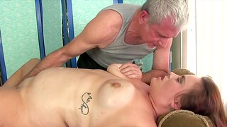 Horny BBWs enjoy their meaty pussies wanted by the masseur using his fingers and sex toys