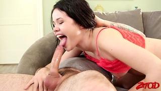 Hardcore fucking with anal tender neighbor Yhivi on the sofa