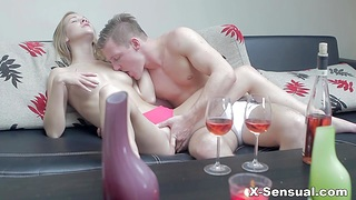 Young beauty Alexis Crystal takes cumshots on pussy after passionate lovemaking