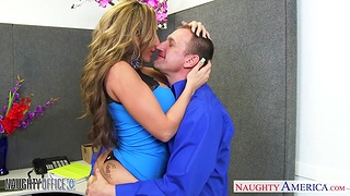 Physically fit cougar Richelle Ryan fucks her boss in the nomination
