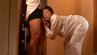 Cum in mouth after quickie fucking with Japanese wife Ayane Asakura