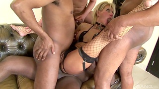 Pretty good MILF roughly fucked for a complete gangbang