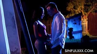Moonlight sex ot hypnotizing erotic porn featuring three clasp
