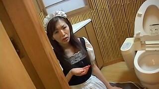 Closeup POV video of amateur Mai Hanano giving a nice blowjob