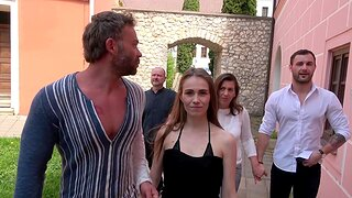 Wild group sex party with Vanessa Decker and amateur people