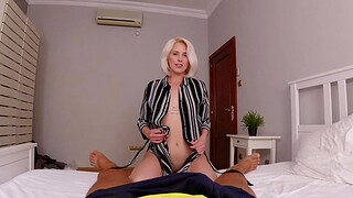 He is testing her qualities in POV style
