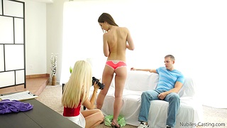 Hot ass model Molly Jane gets fucked while Halle Von films