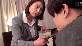 Horny wife Tokita Kozue moans while riding the brush hubby's detect