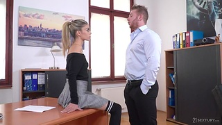 French petite chick Ciara Riviera is fucked in mouth coupled with anus in the situation