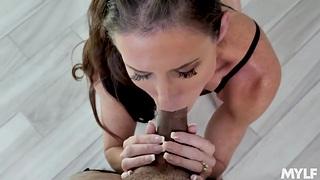 Mature blowjob expert Sofie Marie performs the best ever POV fellatio