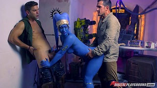 Famousness Wars porn travesty featuring honcho hot babe Miss Eva Lovia