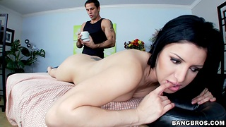 Pussy licking makes Sativa Rose wet and she craves for fucking