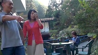Open-air Japanese fucking in public with a appealing darling - HD