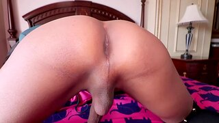 Big dick Thai shemale Manaw fucked lasting anal from behind after sucking cock